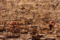 FREE 04 - brick supports in old stone wall. Grain Texture, Old Stone, Live Wallpapers, New Builds, Facade, Brick Walls, Painting, Binder, Abandoned