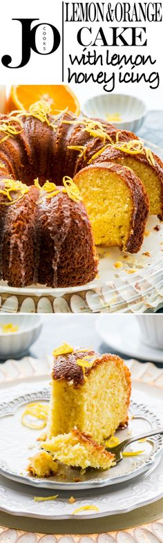 This Lemon Orange Cake with Lemon Honey Glaze is a delicious citrusy cake, easy to make and topped with an incredible lemon honey glaze for a little extra tang and sweetness!