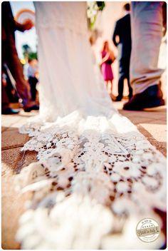 This bridal dress by Claire Pettibone is amazing... ph Jos Photographers http://www.brideinitaly.com/2013/10/jos-milazzo.html #bride #italy #elopement