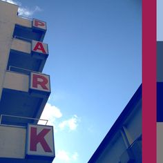 Park Here - Red over white and blue