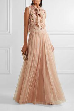 Needle & Thread - Tulle Maxi Skirt - Blush