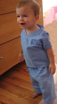 Doctor Scrubs in Blue