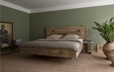 "Bauholz Bett, rustikal,""schwebend"" von timber classics auf DaWanda.com http://de.dawanda.com/product/24245569-Bauholz-Bett-rustikalschwebend"