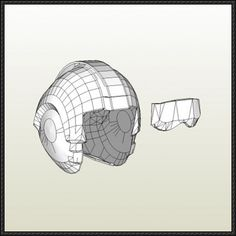 Star Wars - Rebel Alliance X-Wing Pilot Helmet Papercraft Free Download - http://www.papercraftsquare.com/star-wars-rebel-alliance-x-wing-pilot-helmet-papercraft-free-download.html