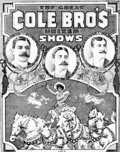 Cole Bros.Circus poster