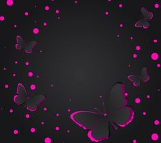 Pink and black butterflies Phone Screen Wallpaper, Cellphone Wallpaper, I Wallpaper, Wallpaper Backgrounds, Pretty Backgrounds, Butterfly Fairy, Purple Butterfly, Neon, Paparazzi Jewelry Images