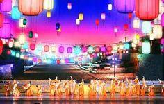 Danza y el arte. Imagen de un grupo de bailarines en China, que muestra sus tradiciones a través de su música, arte y danza.