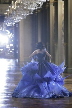 """somethingvain: """" Christian Dior Haute Couture S/S Eva Green for Midnight Poison """" Dior Haute Couture, Periwinkle Blue, Love Blue, Cobalt Blue, Christian Dior, Eva Green, Masquerade Ball, Color Azul, Beautiful Gowns"""