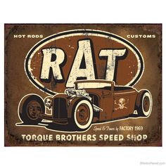 Hot Rod Brothers Speed Shop Metal Sign  http://www.retroplanet.com/PROD/37430