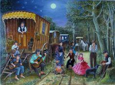 Gypsy camp Gypsy Jazz, Hippie Gypsy, Gypsy Life, Gypsy Soul, Bedknobs And Broomsticks, Gypsy Living, Gypsy Caravan, Art Reference, Amazing Art