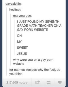 Wait, who uses a recipe for oatmeal? It's just oats and water. | 28 Times Tumblr Missed The Point
