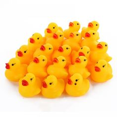Obliging 10pcslot Mini Yellow Duck Toys Pvc Squeaky Rubber Ducks Bathing Toys Baby Playing Water Bath Shower Toy Souding Talking Duckie Evident Effect Toys & Hobbies Classic Toys