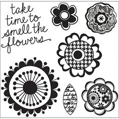 Hampton Art Cling Stamps - Florals at HSN.com Kelly Stamps, Hampton Art, Stamp Pad, Florals, How To Find Out, Craft Projects, Decorative Plates, Crafts, Inspiration