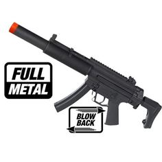 fdf2f08a27 produto 2307 rifle de airsoft gsg 522 is blow black full metal calibre 60  mm - COMBAT AIRSOFT