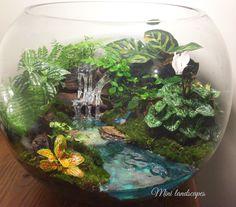 Huge resin waterfeature open bowl terrarium