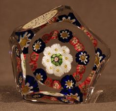 Clichy Paperweight, Concentric, open, 2-row, faceted. Sold £212