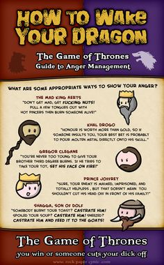 How to Wake Your Dragon: The Game of Thrones Guide to Anger Management - Game of Thrones Comics
