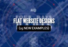 Flat Website Designs (25 New Examples)