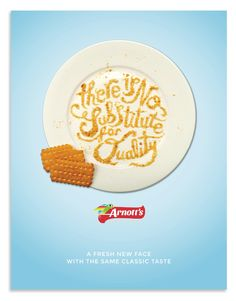 ARNOTTS rebrand and advert by Lisa Dino, via Behance