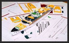 The SS Oriana Cruise Free Paper Model Download
