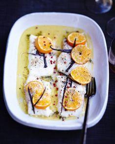 Poisson rôti aux agrumes et beurre vanillé pour 6 personnes - Recettes - Elle