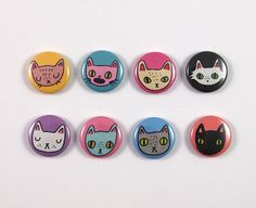 Hey, I found this really awesome Etsy listing at https://www.etsy.com/uk/listing/227405790/eight-cat-badges-cat-badges-cat-pins