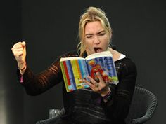 Kate Winslet reading a kiddies' story at a Cornish literary festival - 2011