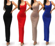 Summer  Maxi Dress Sexy Cute Tank Basic Scoop Neck Slim Racerback Boho Long Dress-in Dresses from Women's Clothing & Accessories on Aliexpress.com | Alibaba Group