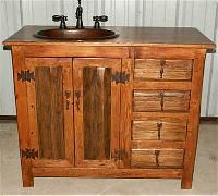 Rustic Bathroom Vanity. But They Dont Say Where To Get It :(