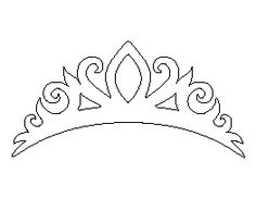 Beautiful tiara coloring page for girls, printable free