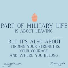 I did not ever think I could have the courage to be in a military relationship. It constantly tests your limits and challenges you. makes you stronger than you ever thought you could be. Military Spouse Quotes, Military Quotes, Military Love, Deployment Quotes, Deployment Party, Army Brat, Military Brat, Military Humor, Army Life