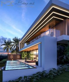 Modern Villa Design, Modern Exterior House Designs, Exterior Design, Village House Design, House Front Design, House Architecture Styles, Architect House, New House Plans, Facade House