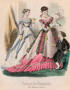 >Bygone Elegance: An 1858 Ballgown with petal skirt, part II