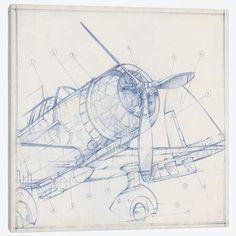 Airplane Mechanical Sketch – fototapeta w dobrej cenie Canvas Wall Art, Wall Art Prints, Canvas Prints, Big Canvas, Framed Prints, Contemporary Wall Decor, Modern Art, Airplane Drawing, Airplane Painting