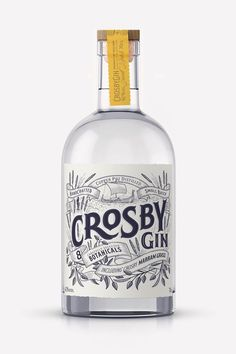 Crosby Gin is Bringing The Handmade Feels – Gesundes Abendessen, Vegetarische Rezepte, Vegane Desserts, Beverage Packaging, Bottle Packaging, Brand Packaging, Alcohol Bottles, Gin Bottles, O Gin, Gins Of The World, Best Gin, Gin Brands