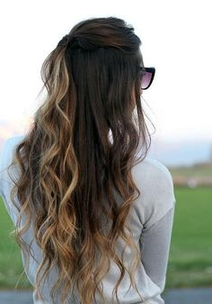 Ombre. I really love this hair. When I'm older. But curly hair. I wonder how that'll look??