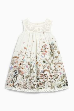 Buy Floral Printed Dress from Next Israel Little Girl Fashion, Kids Fashion, Nice Dresses, Girls Dresses, Cute Outfits For Kids, Baby Kids Clothes, Stylish Kids, My Baby Girl, Toddler Girl