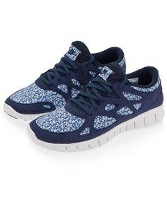 Free Run+2 Pepper Liberty Print Trainers, Nike | Liberty
