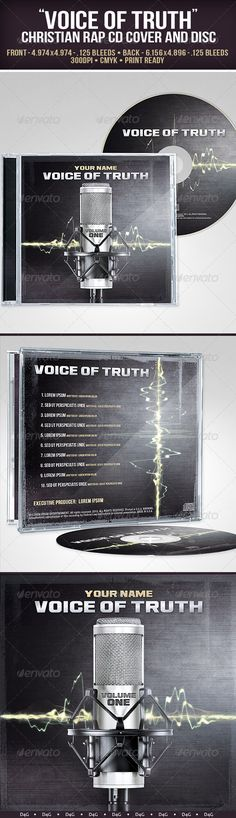 Voice of Truth CD. Can be used for Christian rap music. The PSD file has group folders and layers named accordingly. $6.00