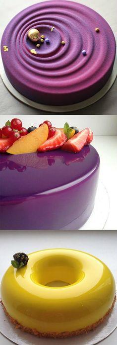 Mirror glazed cake perfection