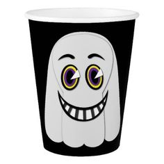 1930's Vintage Ghost Bold Paper Cup - halloween decor diy cyo personalize unique party