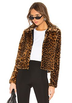 f06ecb1c509 Casey Leopard Faux Fur Coat Winter Coats On Sale