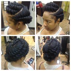 Protective style Flat twists all around Box Braids, Natural Hairstyles, Natural Updo, Natural Hair Tips, Braided Hairstyles, Natural Twists, Natural Girls, Hairdos, Natural Beauty