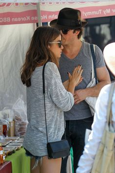 Cute Couple Ian Somerhalder and Nikki Reed Get Close During Daytime Date (PHOTOS)
