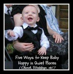 Five Ways to Keep Baby Happy in Quiet Places