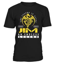 The Legend is Alive JIM An Endless Legend Last Name T-Shirt #LegendIsAlive