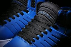 • Royal blue leather upper; royal blue TPR cage and heel pull; black accents, including a black tongue and a black leather heel inlay; padded black mesh lining; constructed on a white outsole with a black SUPRAFOAM midsole. SUPRA Footwear