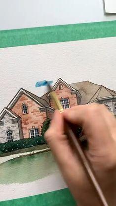 Bear Watercolor, Watercolor Art Lessons, Watercolor Art Paintings, Watercolor Pictures, Abstract Canvas Art, Diy Canvas Art, Cubism Art, Doodle Art Designs, Creative Artwork
