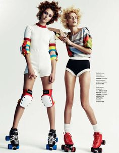 Roller Derby-Inspired Editorials - The ELLE Ukraine 'Rolling Girls' Photoshoot is Fun and Colorful (GALLERY)
