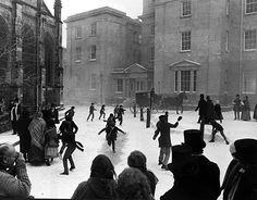 The filming of Dicken's A Christmas Carol. The ice the boys were skidding on was plastic sheeting with washing up liquid squirted on. Shrewsbury England, Shrewsbury Shropshire, Christmas Movies, Christmas Carol, Christmas Specials, Medieval Town, Period Dramas, Wales, Authors
